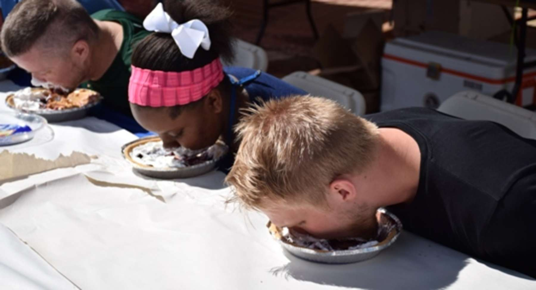 BBF pie eating contest