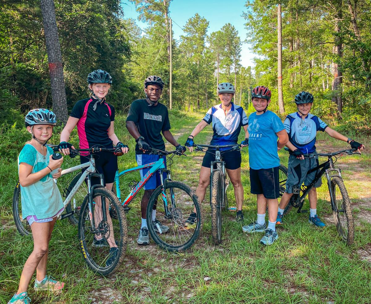 Youth bikers at Bartram Forest