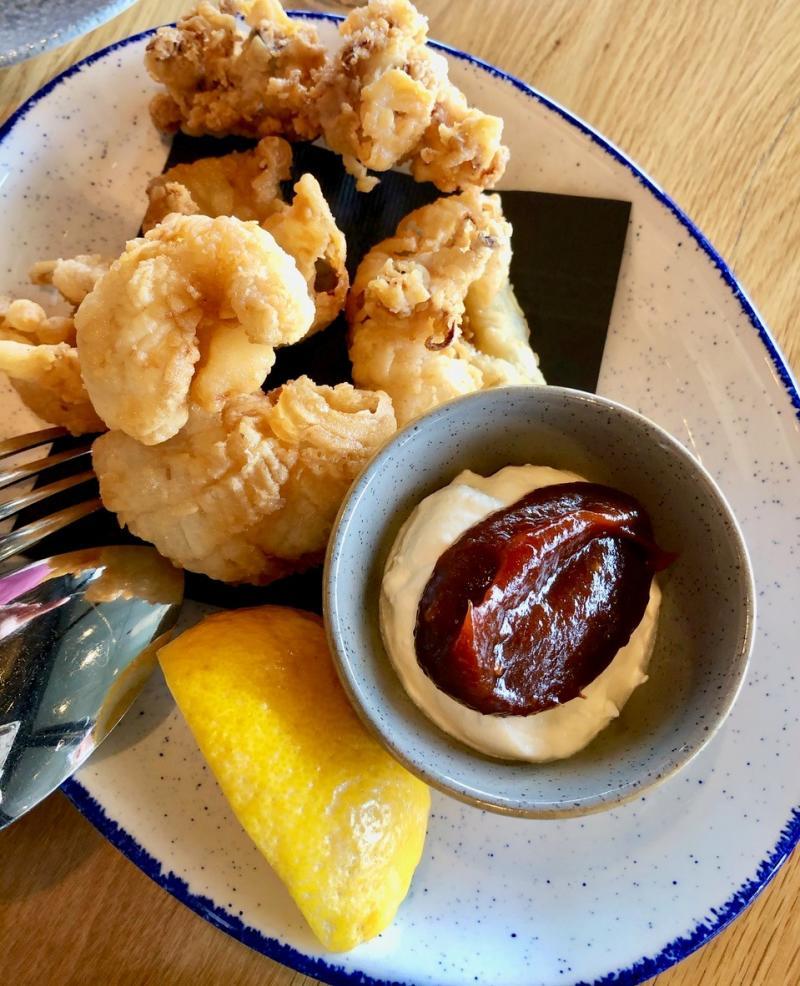 A dish of Calamari from Homeblock at CedarCreek
