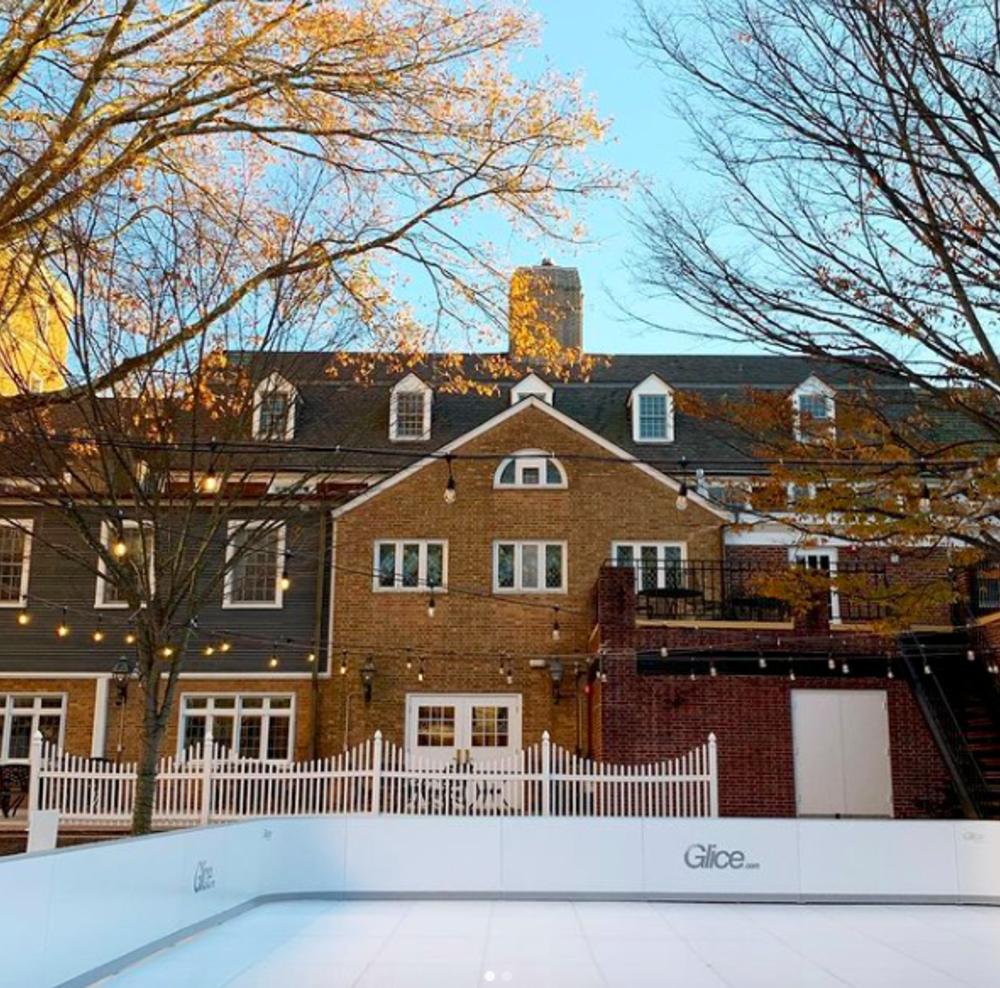 Eco Friendly Outdoor Skating Rink at Palmer Square in Princeton