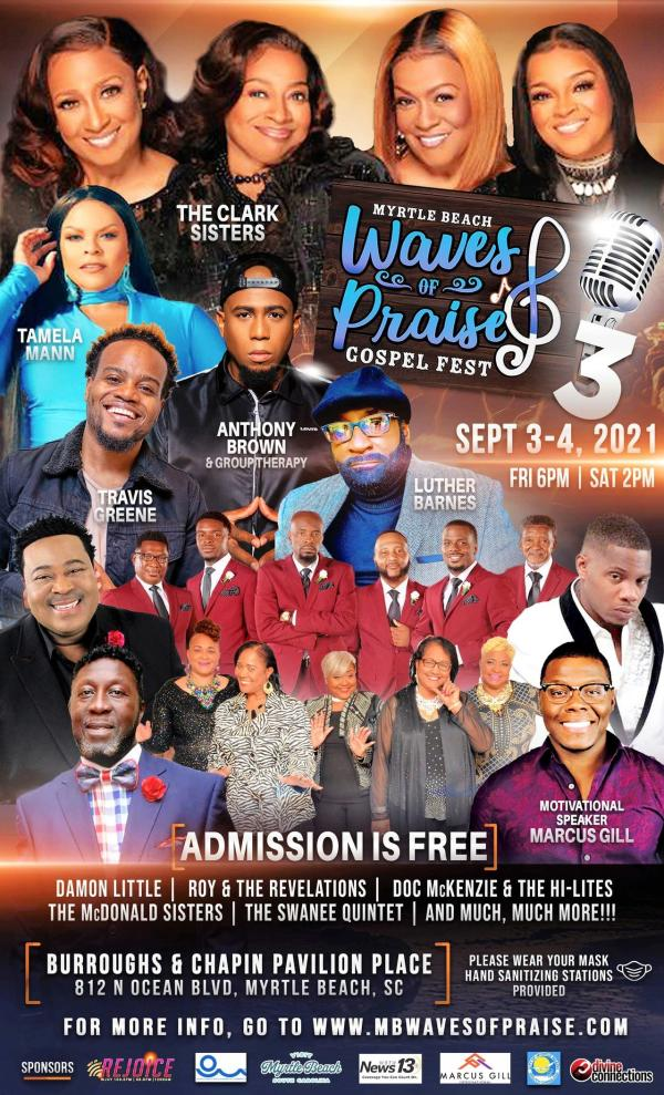 Poster for Waves of Praise Lineup 2021