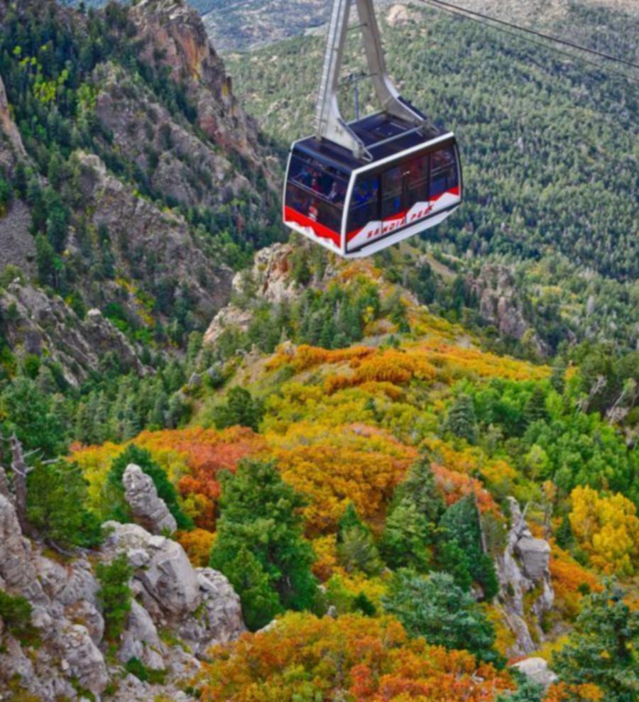 Sandia Peak Aerial Tramway in the Fall