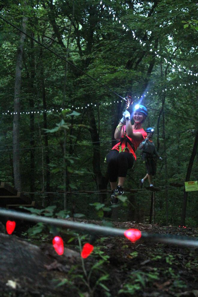 Twilight Ziplining - Treetop Quest - Explore Park - Roanoke, VA
