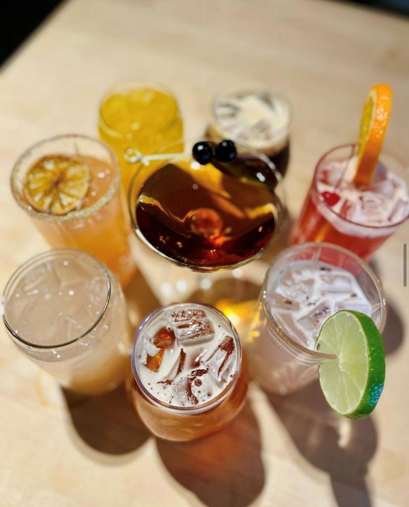 Selection Of Cocktails From Tupelo Honey In Virginia Beach