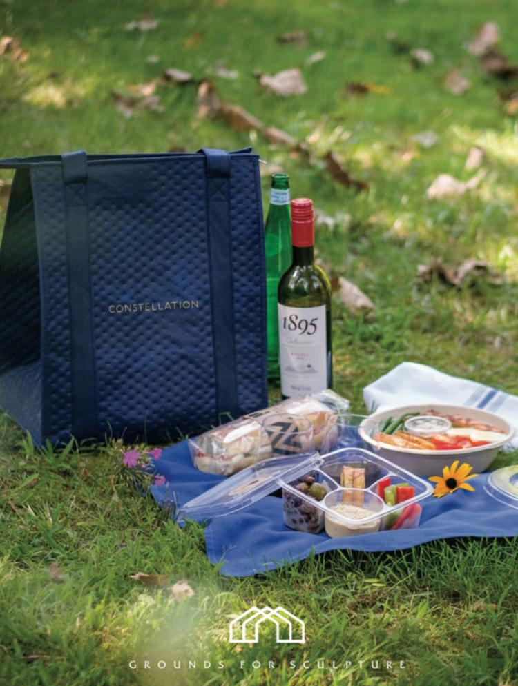 Picnic with wine and cheese from Rat's Restaurant