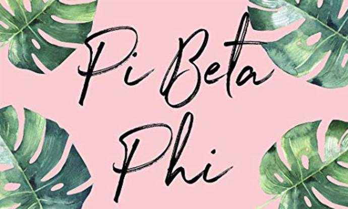 Pi Beta Phi Simple Text Button SALE $2.25. - Greek Gear®