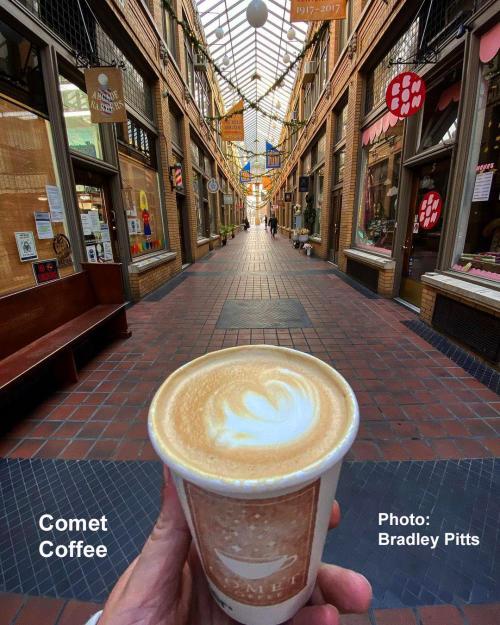 Comet Coffee in Nickels Arcade, Ann Arbor