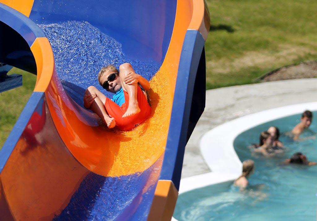 Child on Slide in Casper, Wyoming
