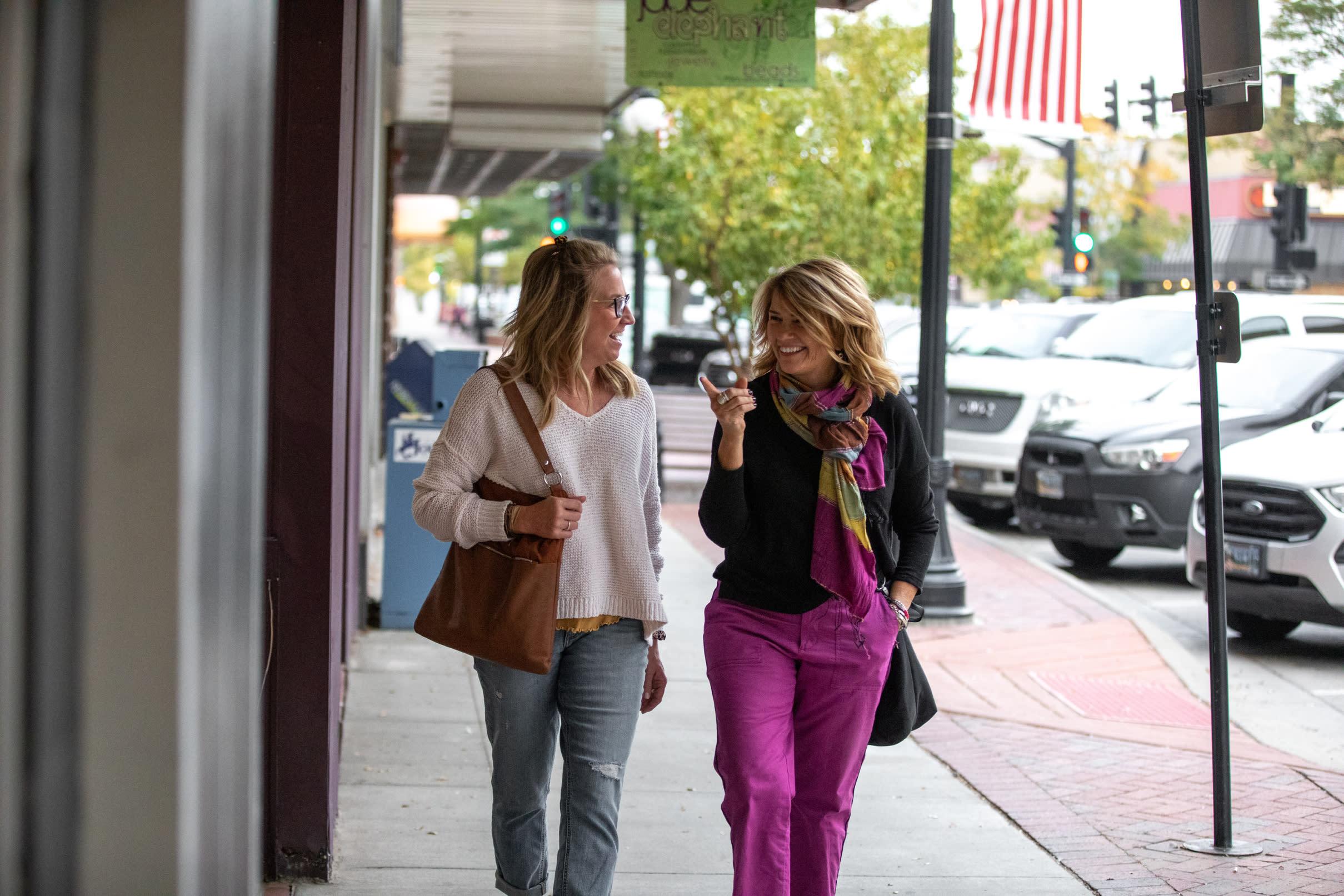 Two Women Shopping Downtown Casper