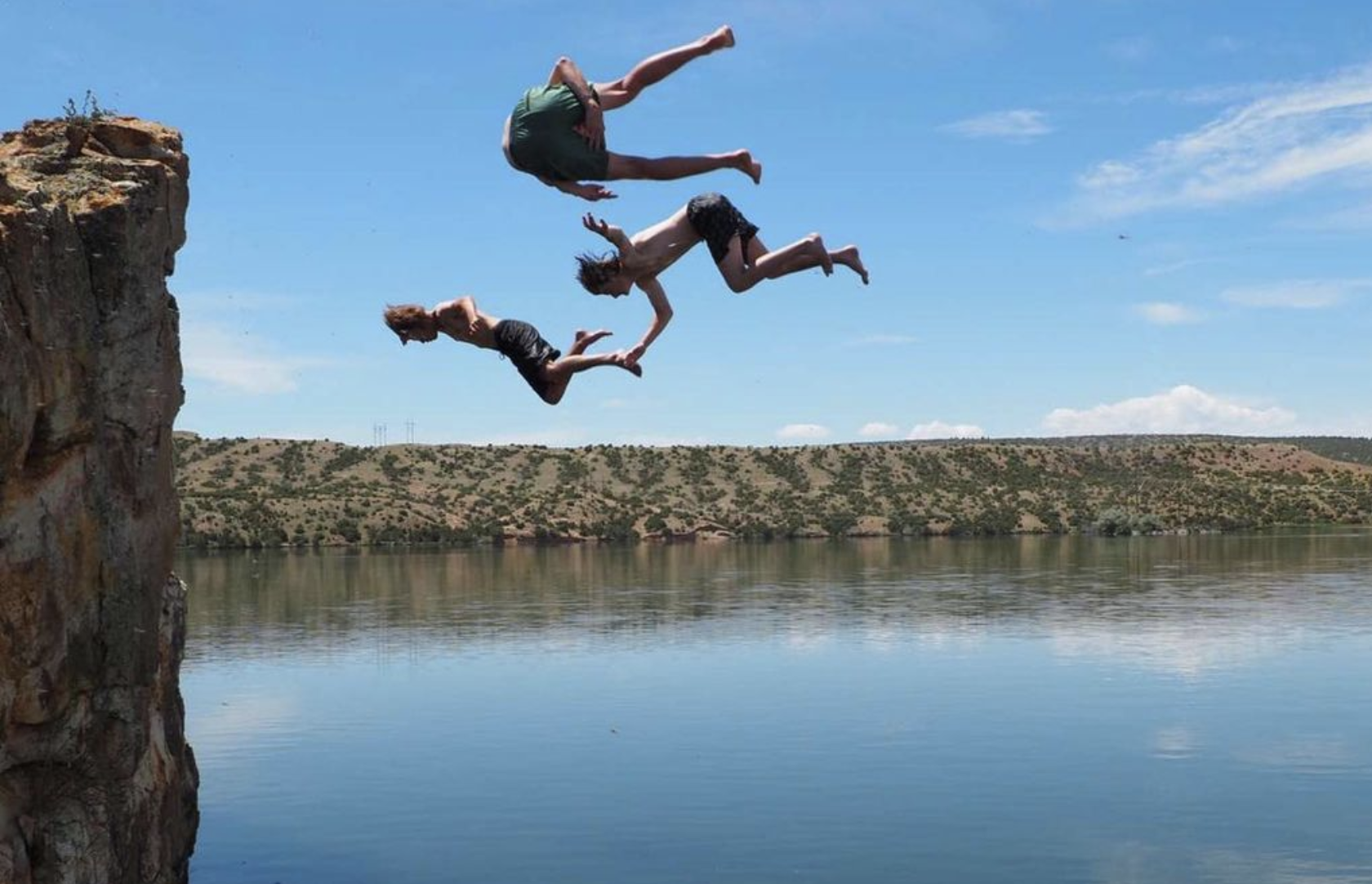 Cliff Jumping in Alcova Canyon