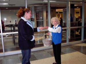 Cookies welcome travelers to Fort Wayne International Airport