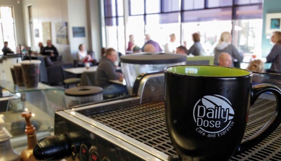 Coffee mug being filled