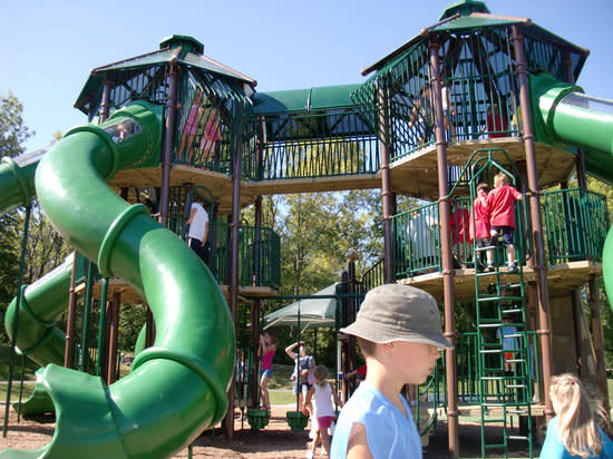 playground with large slides