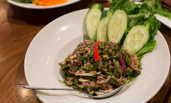 Laab beef salad