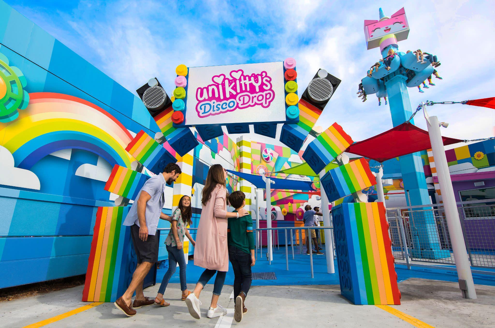 Unikitty's Disco Drop at LEGOLAND Florida Resort's THE LEGO MOVIE WORLD