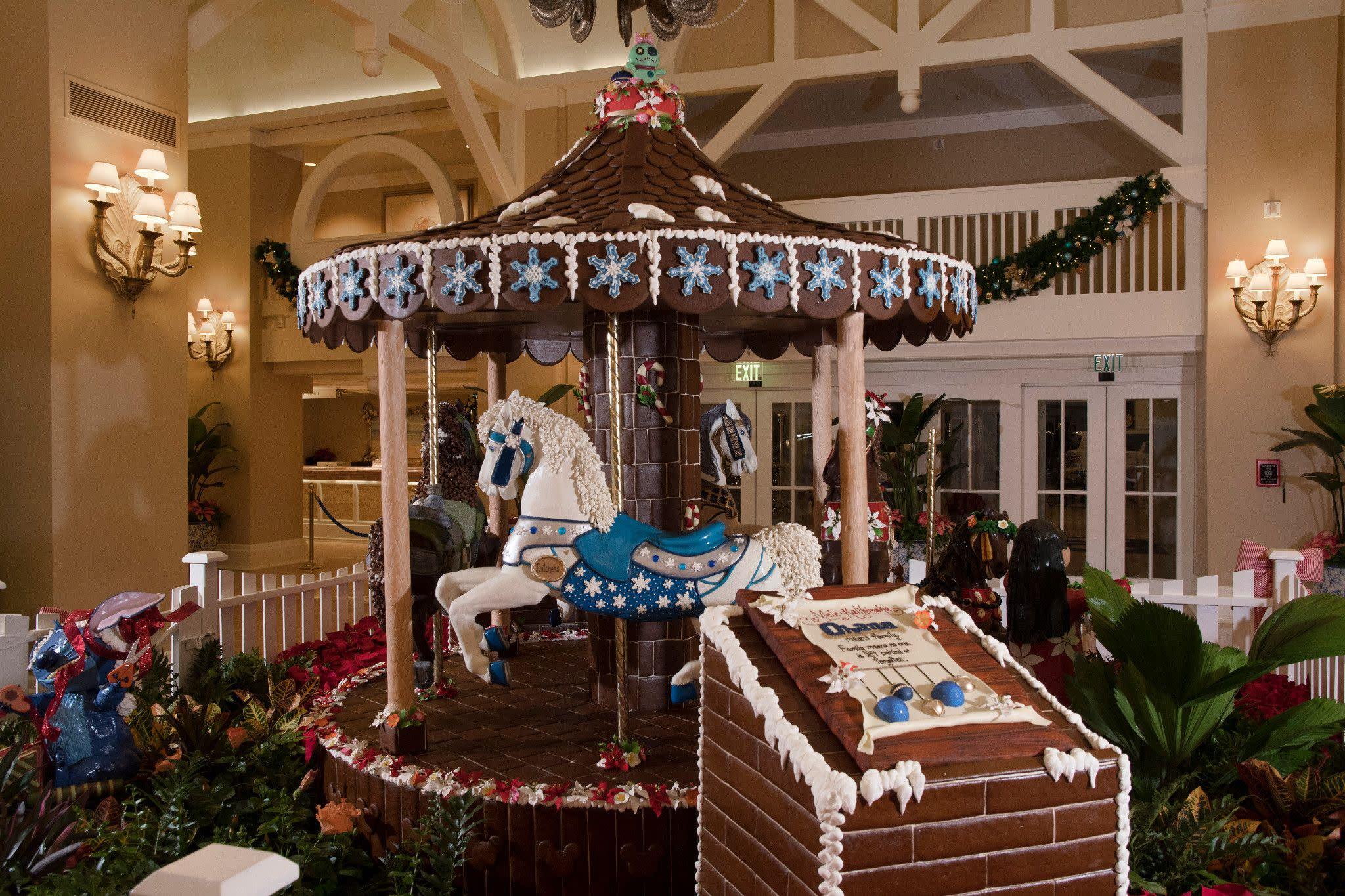 Gingerbread Horse Carousel at Disney's Beach Club Resort at Walt Disney World Resort in Orlando