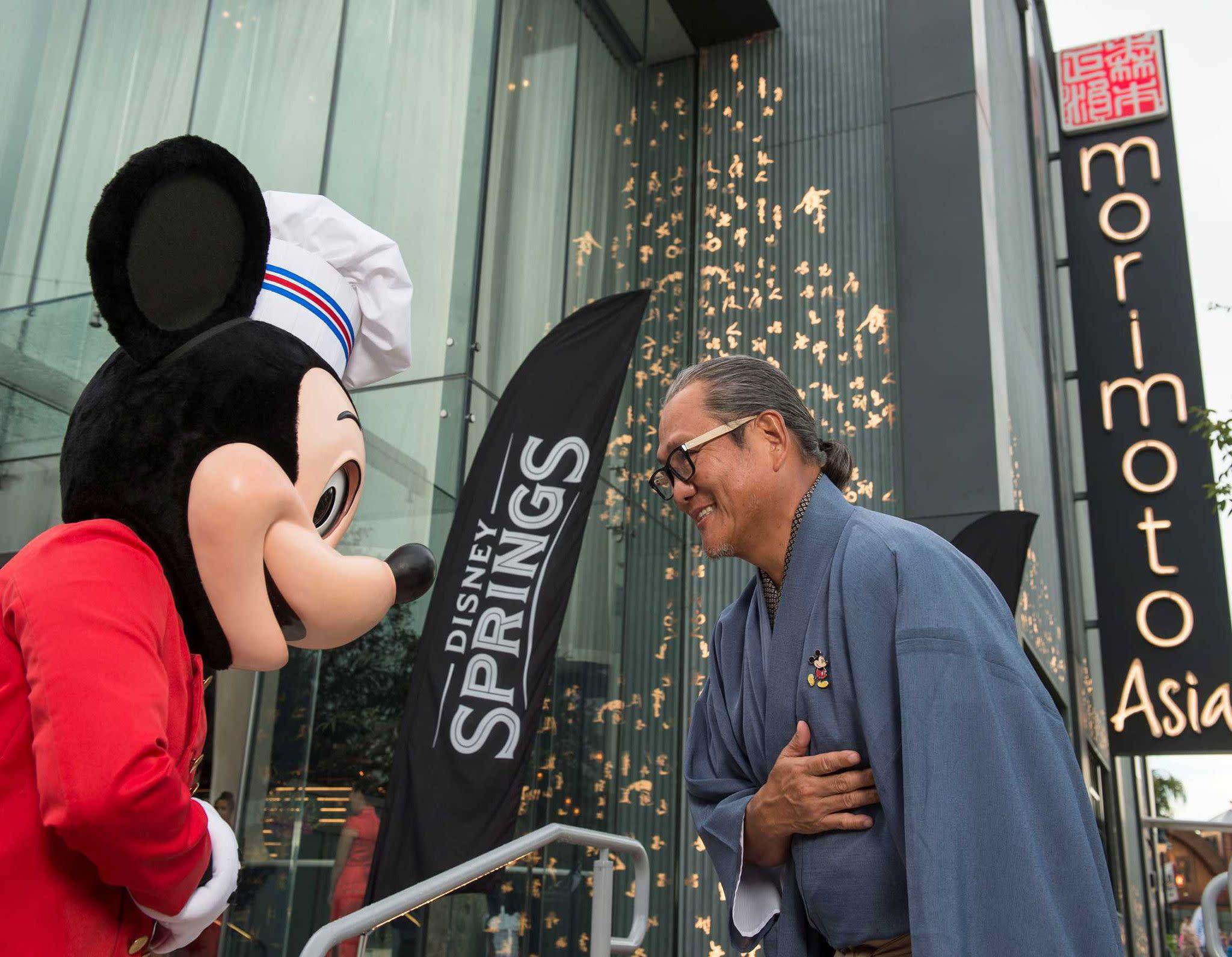 Mickey Mouse Salutes Iron Chef Masaharu Morimoto at Disney Springs
