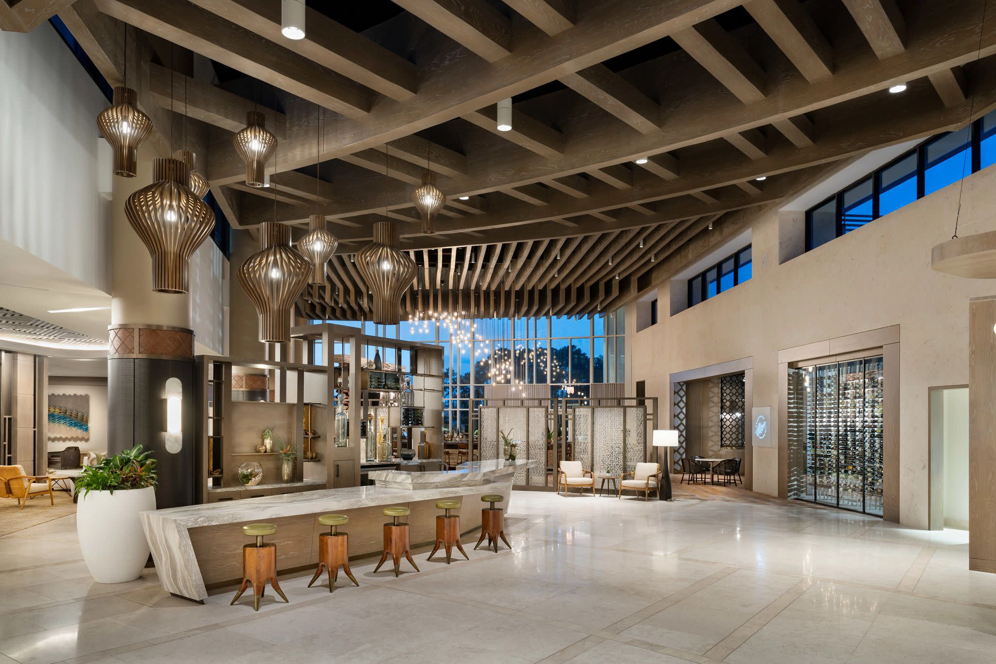 Lobby Concept Art for JW Marriott Orlando Bonnet Creek Resort & Spa