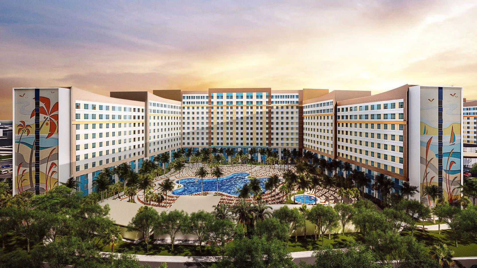 Artist Rendering of Universal's Endless Summer Resort — Dockside Inn and Suites at Universal Orlando Resort