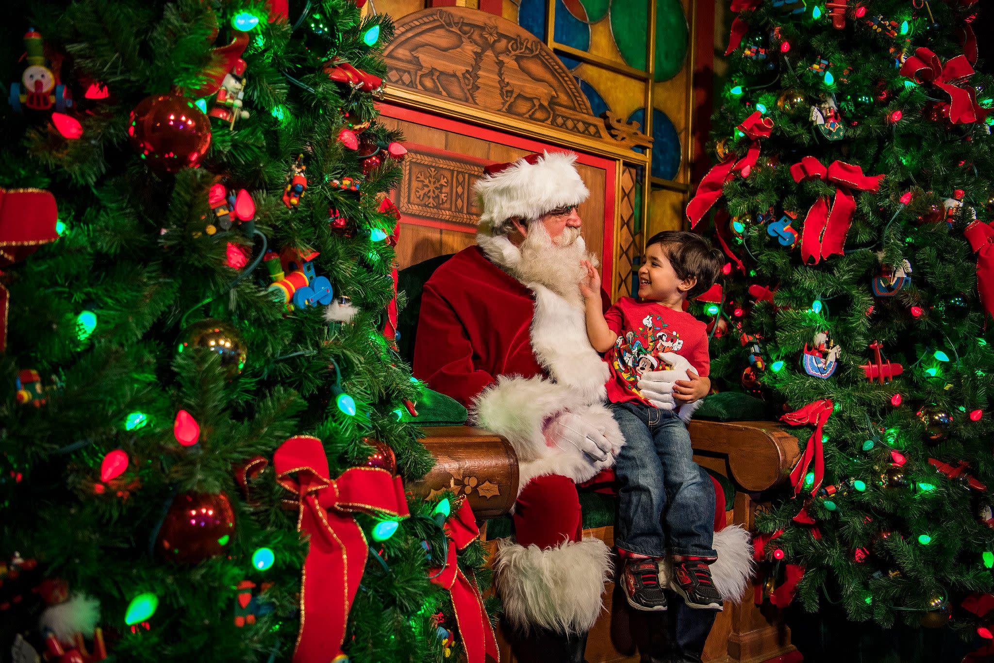 Santa at Disney Springs at Walt Disney World Resort in Orlando