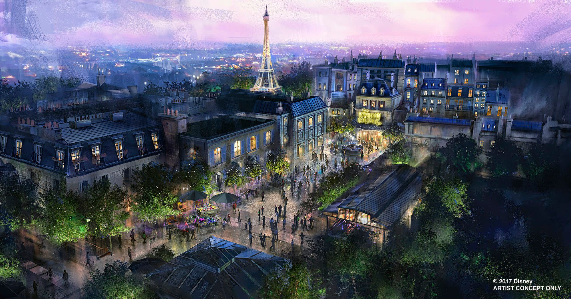Concept Art for Remy's Ratatouille Adventure, Coming Summer 2020 to Epcot at Walt Disney World Resort in Orlando