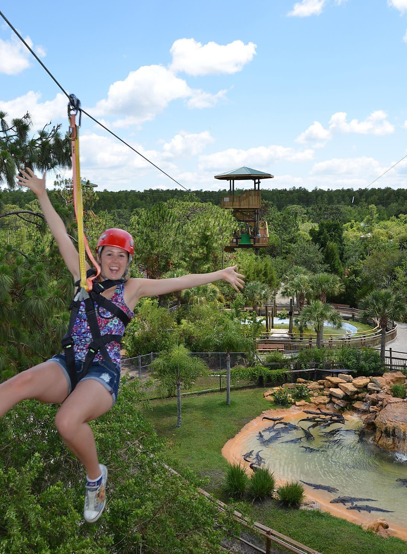 Screamin' Gator Zip Line at Gatorland in Orlando