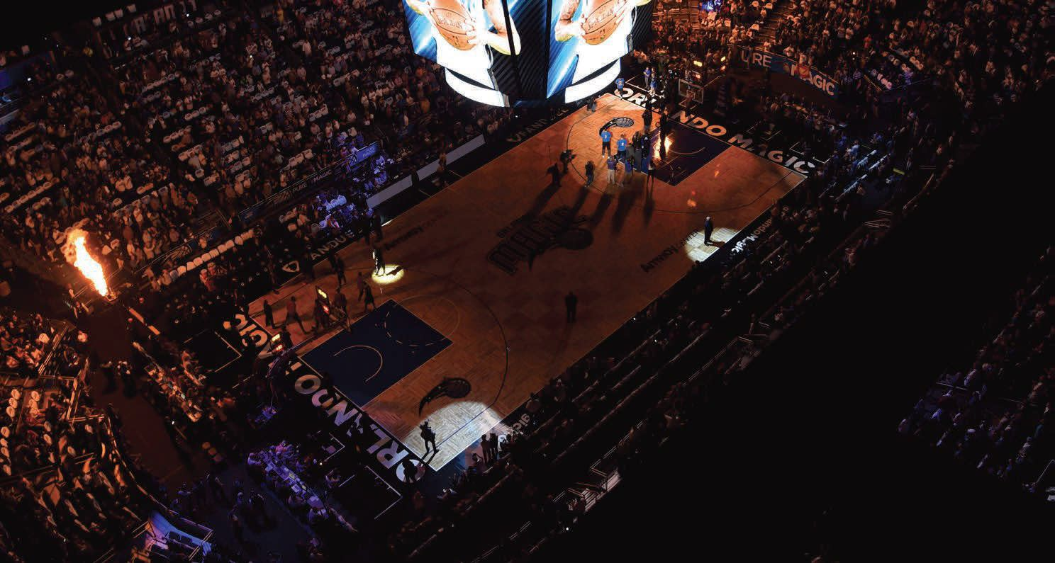 Orlando Magic at the Amway Center in Downtown Orlando