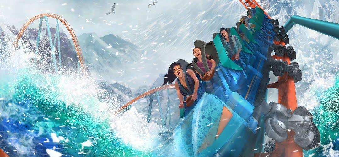 Concept Art for Ice Breaker at SeaWorld Orlando