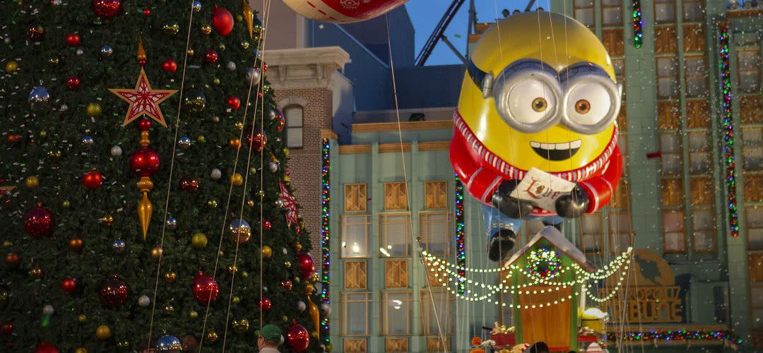 Minion Float at Universal's Holiday Parade Featuring Macy's, Part of Holidays at Universal Orlando Resort