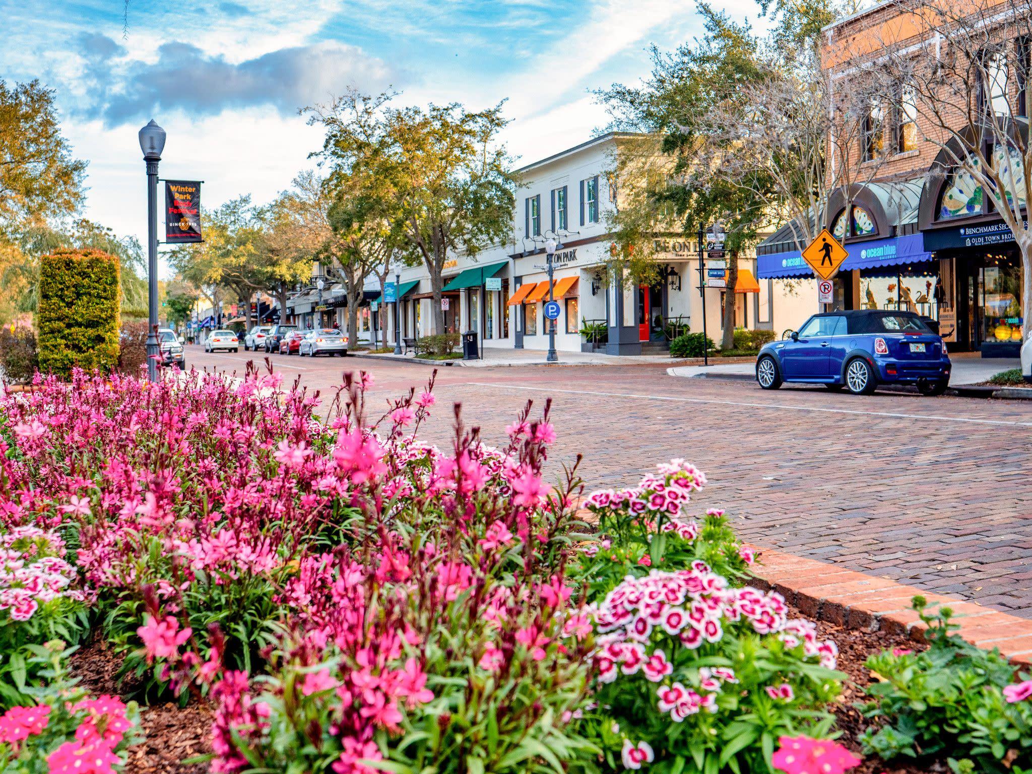 Park Avenue in Winter Park Near Orlando