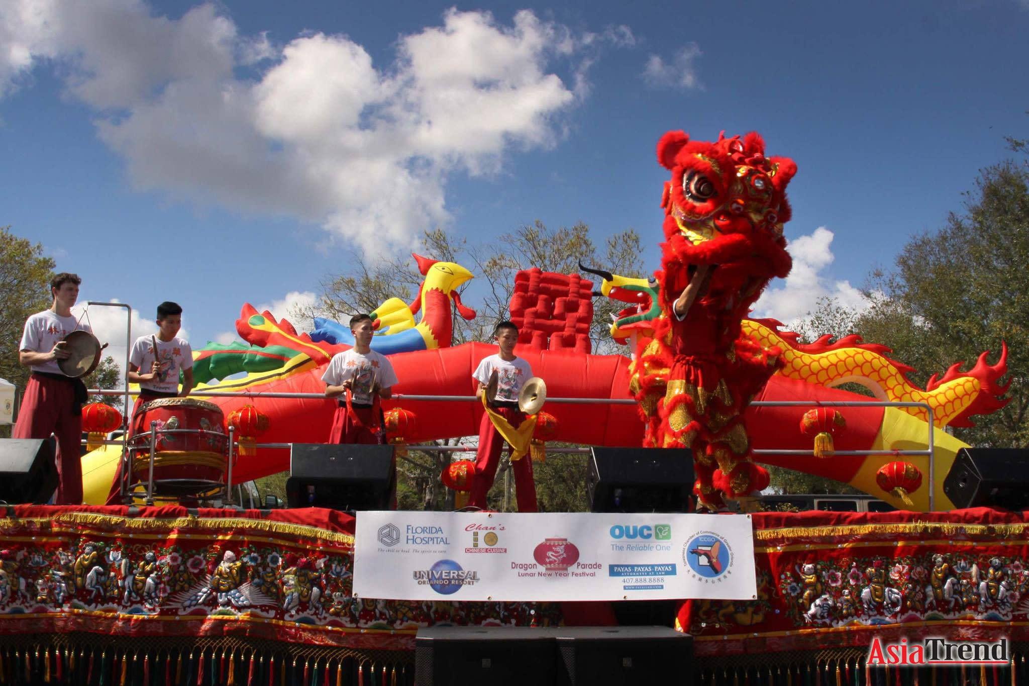 Central Florida Dragon Parade Lunar New Year Festival in Orlando