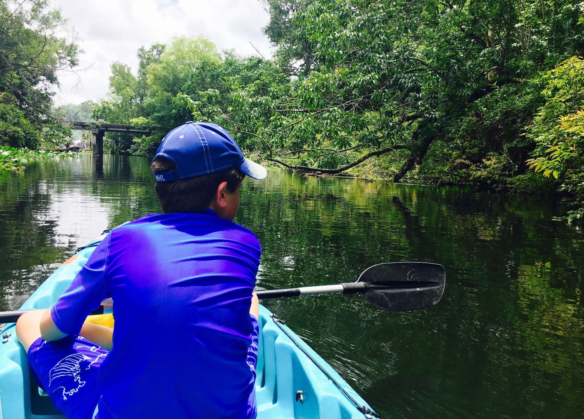 Kayaking on Wekiva Springs State Park