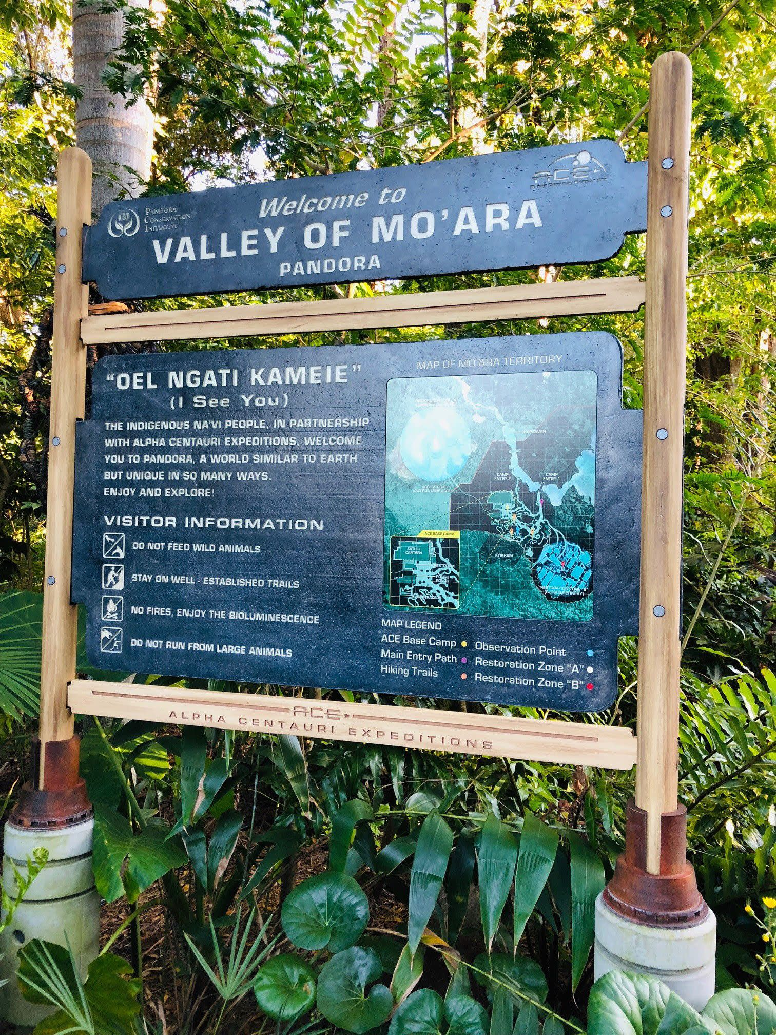 Signage at Pandora — The World of Avatar at Disney's Animal Kingdom in Orlando