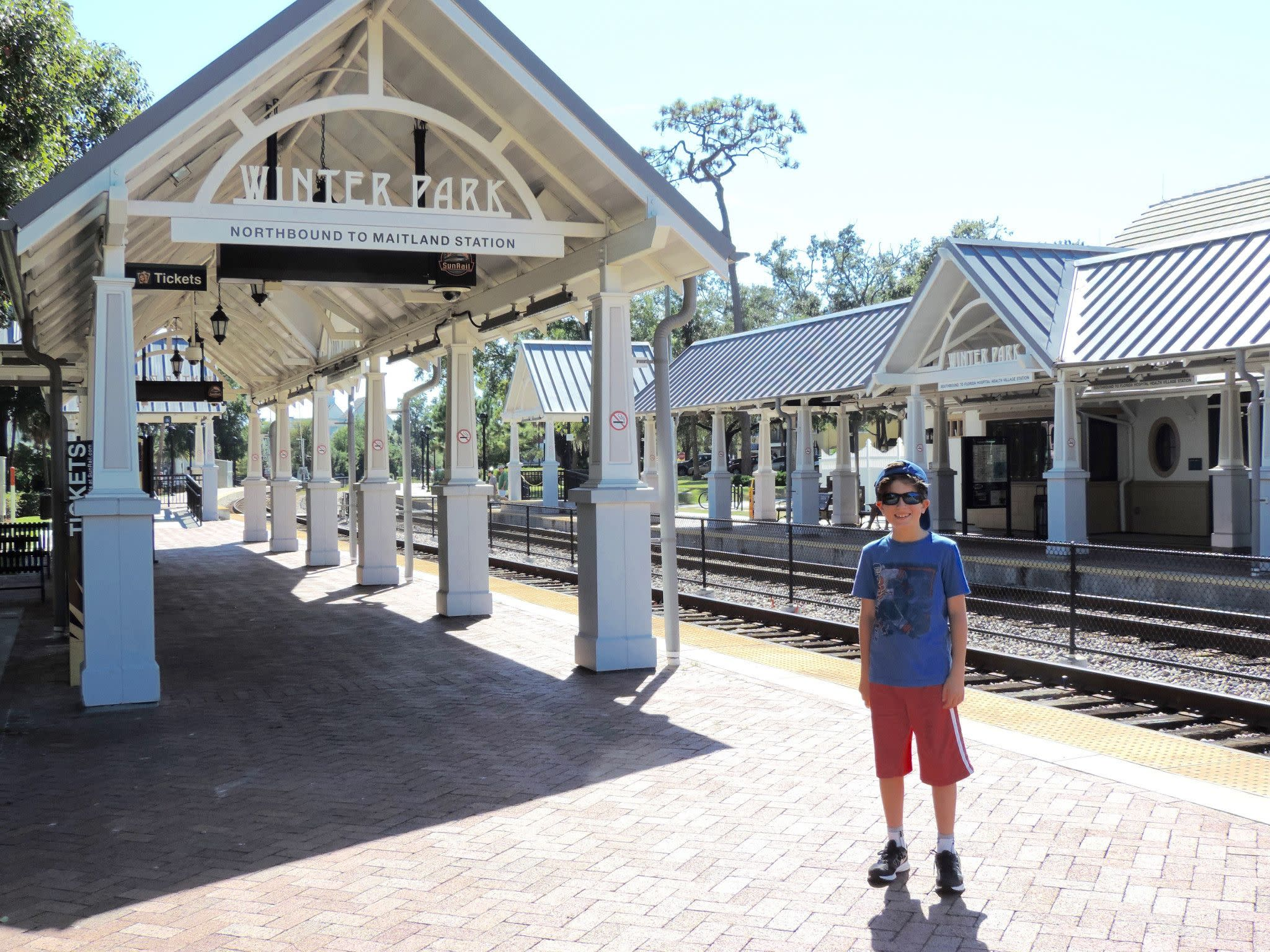 Train Station in Winter Park Near Orlando