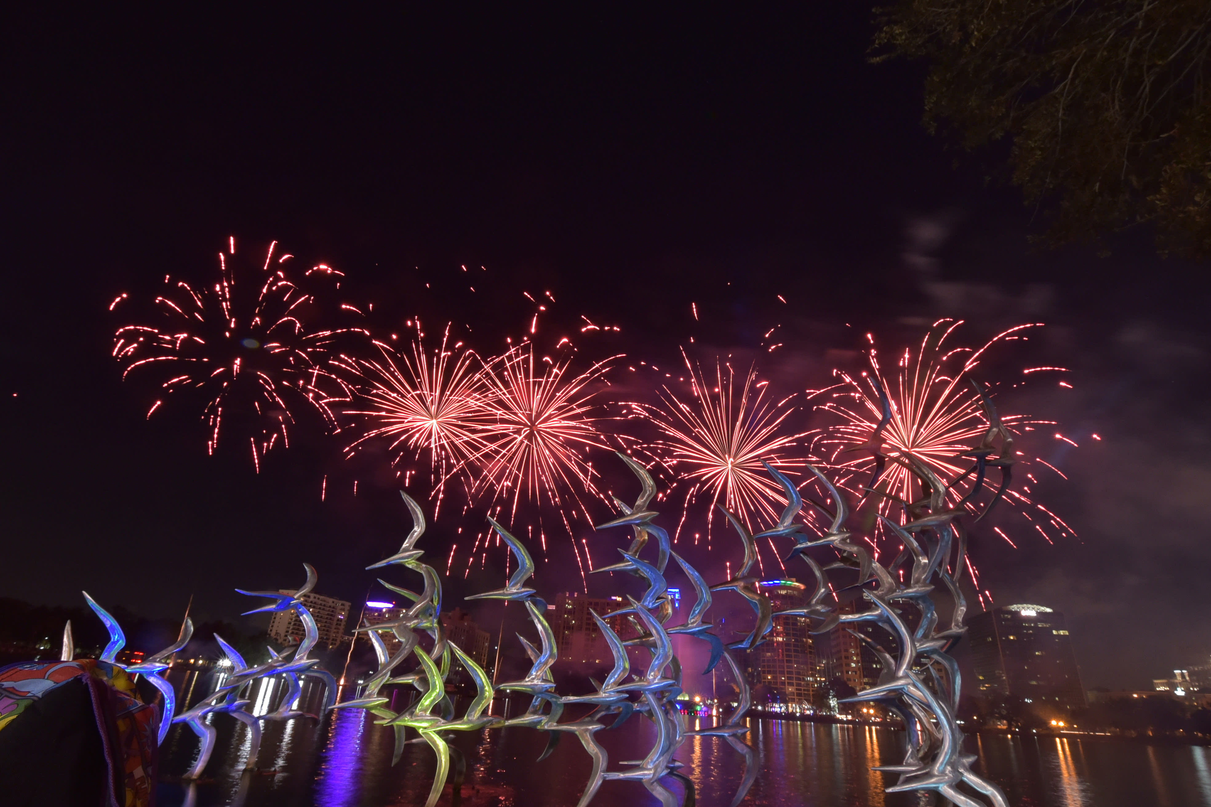 Come Out With Pride Festival Fireworks at Lake Eola Park in Orlando
