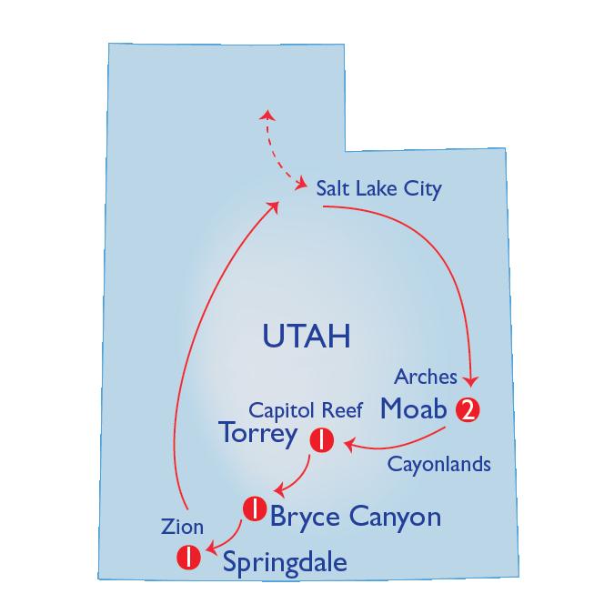 SA Map Mighty 5 SLC