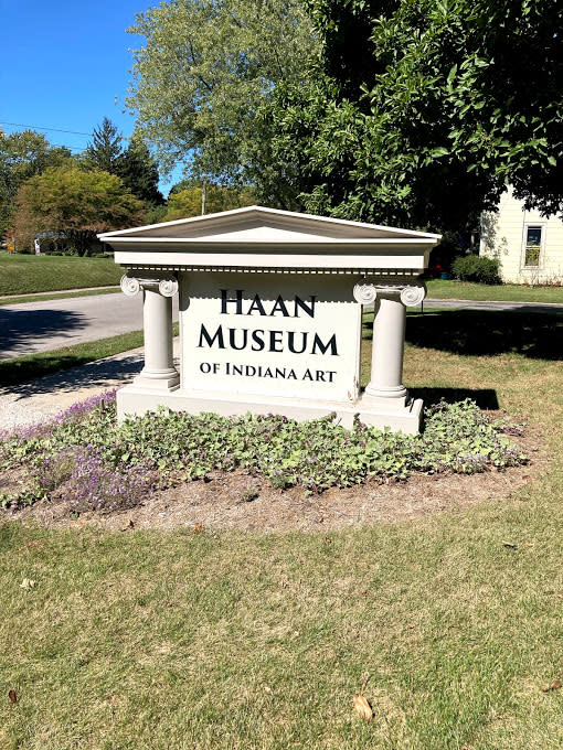 Haan Museum of Indiana Art Sign