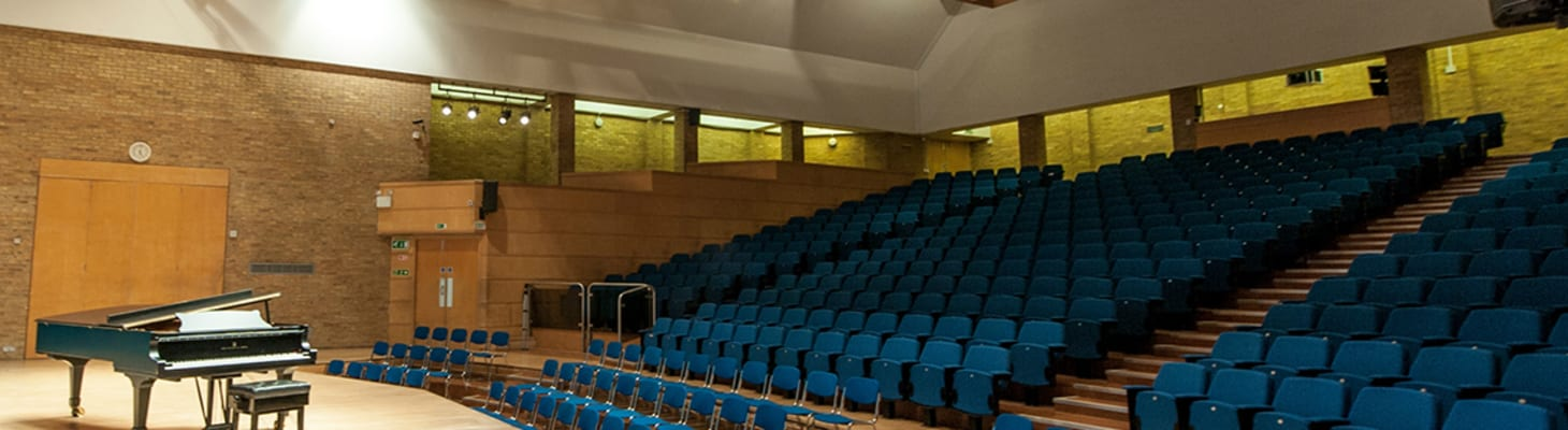 Seating 499, the West Road Concert Hall auditorium is one of the largest plenaries in Cambridge