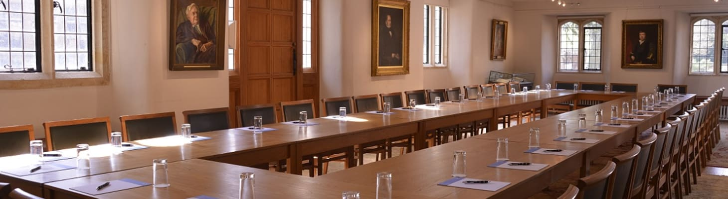 The Graham Storey Room is an attractive and spacious historic room and a popular choice for meetings and dinners.