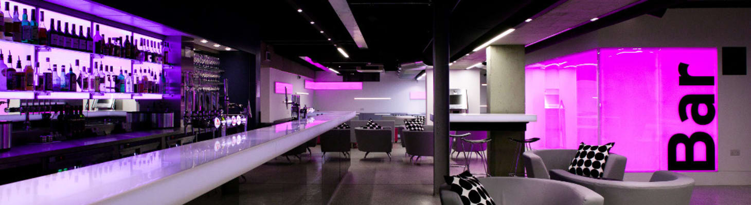 The McGrath Bar is a flexible, modern space that can host up to 180 for a reception or party. It can also be used as a syndicate/catering room for larger conferences in conjunction with use of the McGrath Centre.