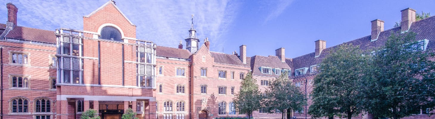 Views of Chapel Court over looking the College Library