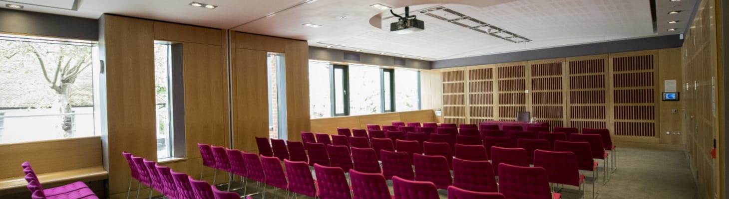 The Lucia Windsor Room is a very versatile room.  It can take up to 120 theatre style, or 50 cabaret.  It can also be used for dinners up to 40.  With natural daylight and built in A/V, there is a foyer adjoining for refreshment breaks.
