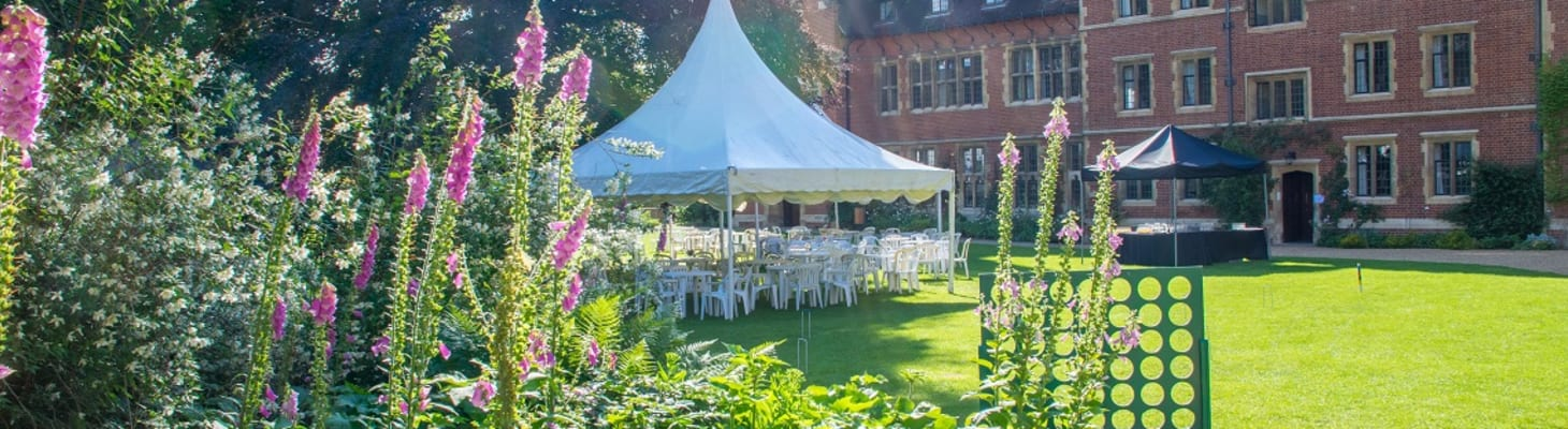 Summer parties with traditional garden games on Latham Lawn
