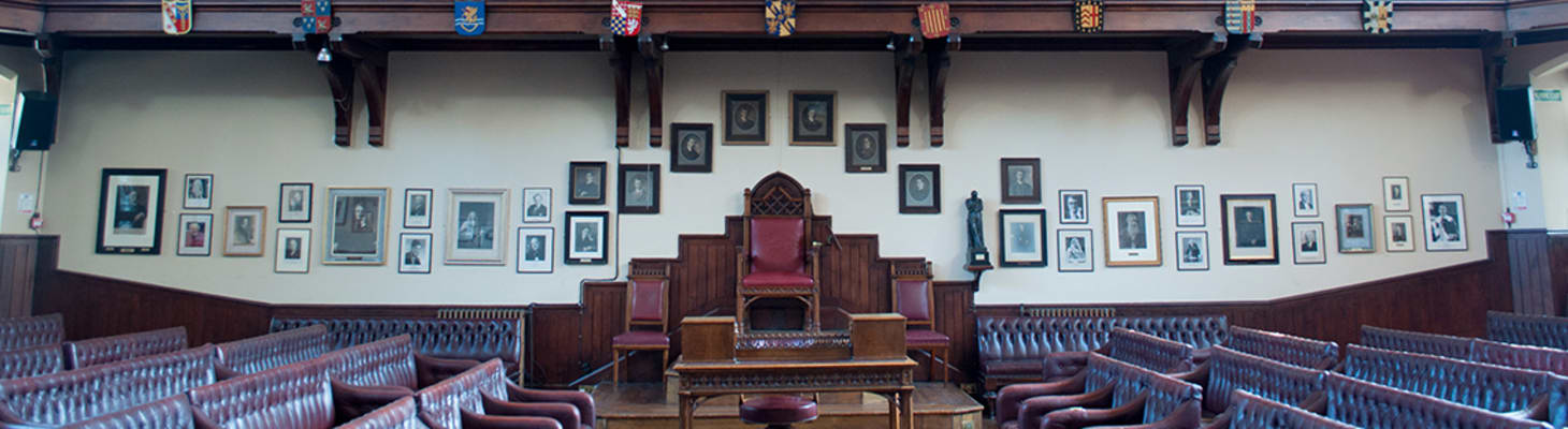 The historic debating Chamber which can host up to 400 guests.