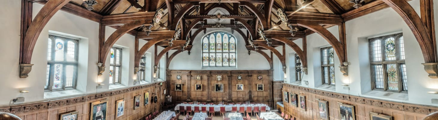 Old Courts Dining Hall seats up to 184 for formal dinners.