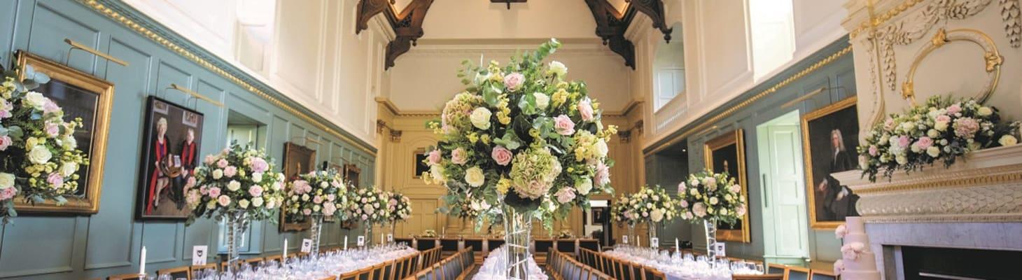 Weddings and civil partnerships at Trinity Hall Cambridge College