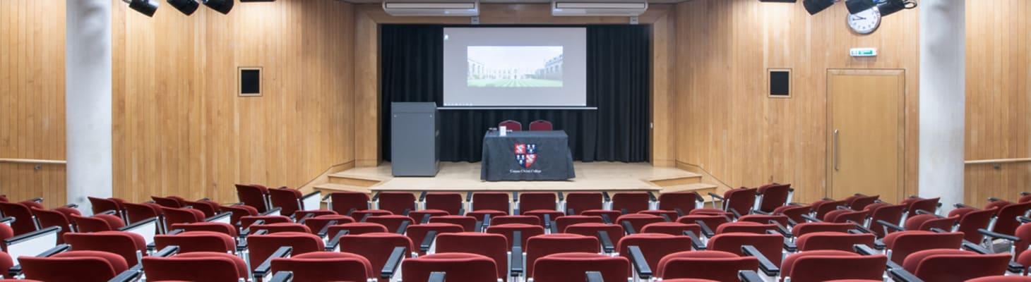 A Corpus gem, the McCrum Lecture Theatre