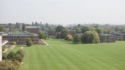 View over the Cricket Pitch