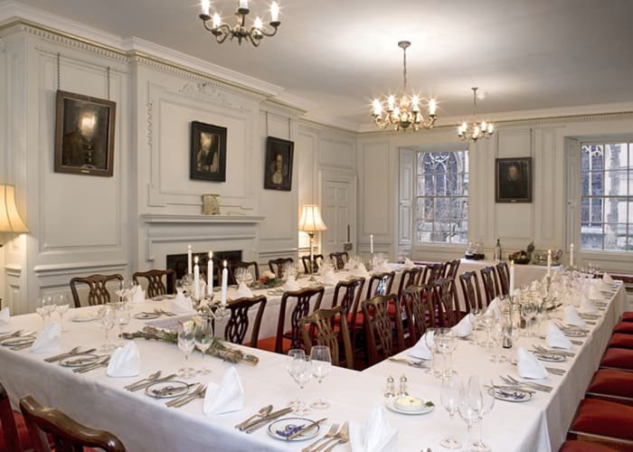 Named after Matthew Parker, a former archbishop of Canterbury and Master of Corpus, this WiFi-enabled suite offers the perfect setting for a small conference, refreshments or served dinner. All three rooms date back to the College's foundation in 1352, with views overlooking the oldest inhabited court in Cambridge and the Chapel.