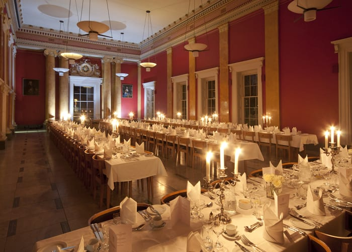 The Hall laid for a Gala Dinner